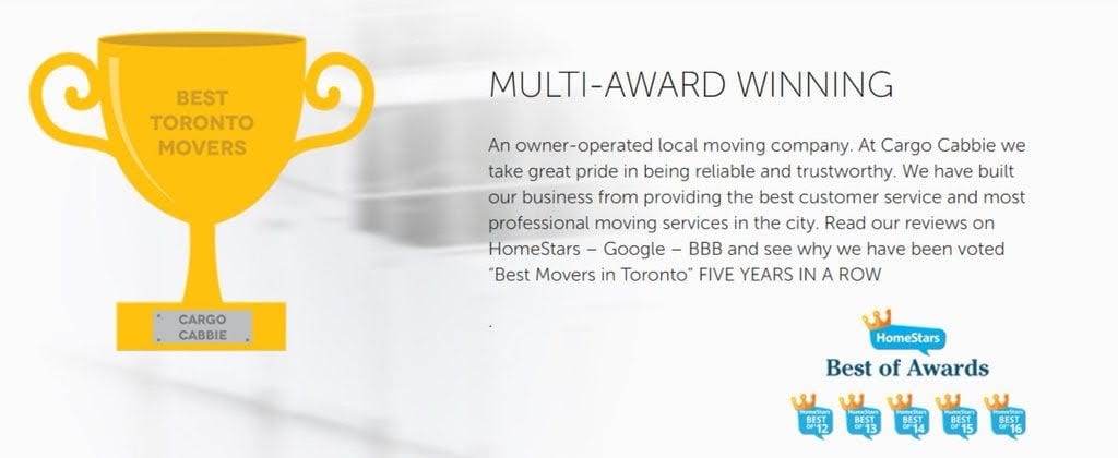 Cargo Cabbie Best of Awards HOMESTARS