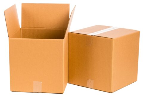 record cardboard moving box, cargo cabbie