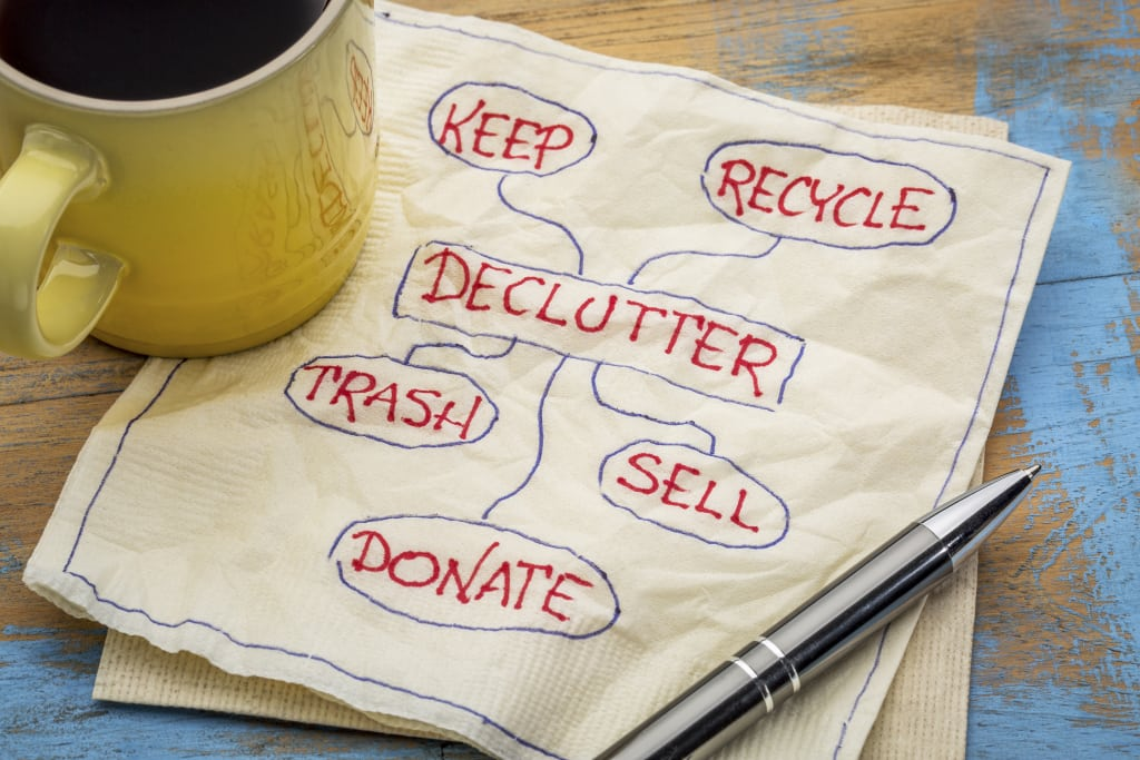 declutter for downsizing