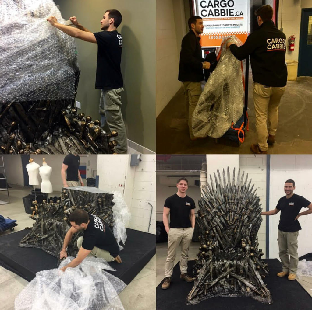moving HBO, The Throne with Cargo Cabbie