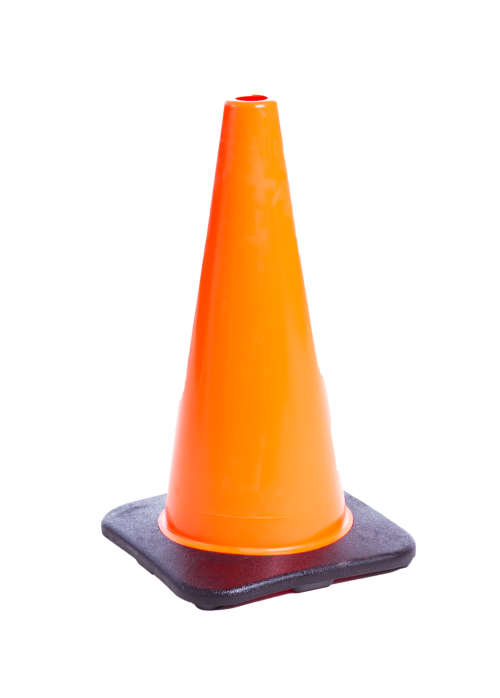 pylons and traffic cones