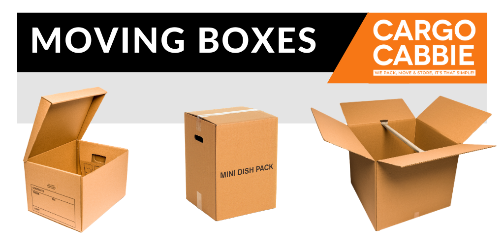 order moving boxes and packing supplies online CARGO CABBIE
