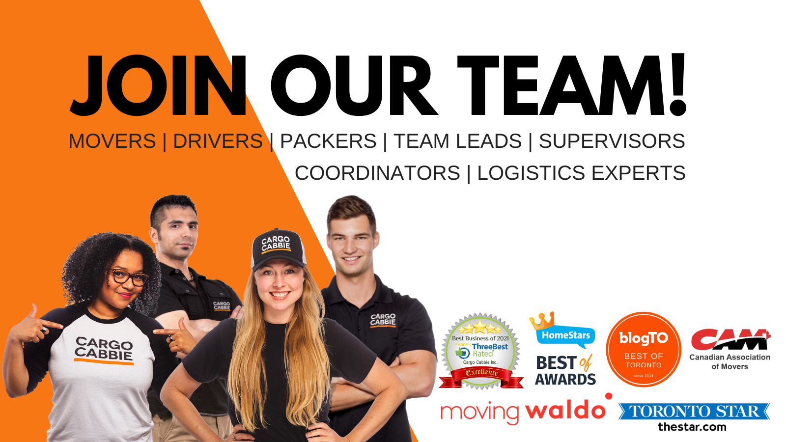 CARGO CABBIE JOIN OUR STAR TEAM 2021 careers jobs APPLY TODAY